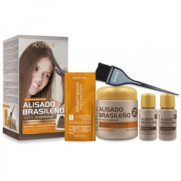 KATIVA BRAZILIAN STRAIGHTENING zestaw do prostowania i wygładzania włosów