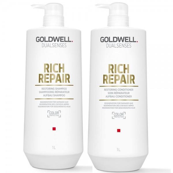 Goldwell DLS Rich Repair Szampon+Odżywka 2x1000ml
