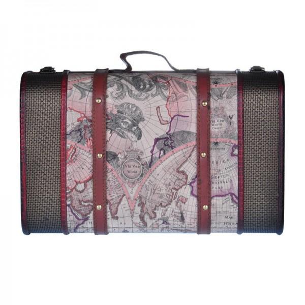 Dear Barber Vintage Wooden Suitcase M/S WALIZKA DUŻA